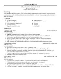 Sales Associate Resume Example Classic Full Professional Resumes Samples