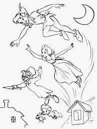 Gallery Of Peter Pan Tinkerbell Coloring Pages