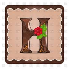 Chocolate Letter H Vector Image Of Objects © Rodnikovay 144608