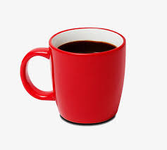 A Cup Of Black Coffee Clipart In Kind Red Cups PNG Image