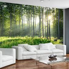 chambre foret personnalisé photo papier peint 3d vert forêt nature paysage