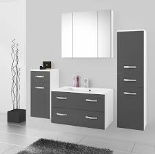badmöbel badezimmer 5tlg set in grau matt weiss matt 80 cm waschtisch