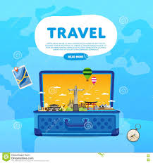 Travel The World Monument Concept Road Trip Illustration 72524967