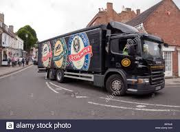 100 Thumper Truck Ringwood Brewery Scania Truck Turning The Corner At The Bottom Of