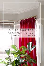 ikea hack converting a grommet curtain header to pencil pleats