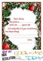 READY LETTER TO SANTA CLAUS TEMPLATE