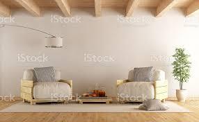 moderne wohnzimmer mit zwei paletten sessel stockfoto und mehr bilder architektur