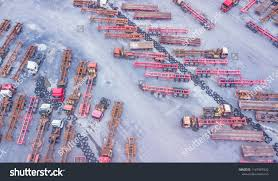 100 Semi Truck Parking Games Top View S Trailers Logistics Stock Photo Edit Now
