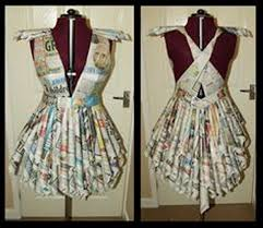 Recycled Paper Ideas Crafts Newspaper Dresses Upcycled Designs