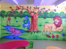 Kids Room Wallpaper Ideas For Your Kid Home Caprice Creative Play School Wall Painting 3d Cartoon Artist Kamal Solanki From