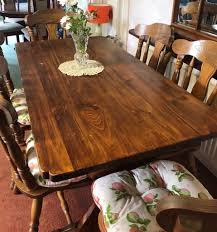 Wood Dining Table , Refrectory Style With X6 Olde English Cottage Style  Chairs | In Chadderton, Manchester | Gumtree