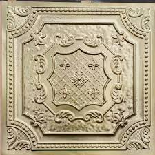 Antique Ceiling Tiles 24x24 by Pl04 Faux Tin Finished Aged Brass 3d Embossed Ceiling Tiles