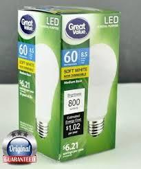 brand new great value l led soft white energy saving light