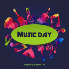 Colorful Music Day Background Premium Vector