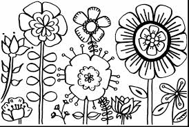 Impressive Spring Flower Coloring Pages Printable With And Preschool Flowers