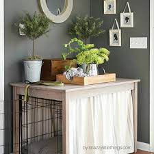 How To Build A End Table Dog Crate by Diy Dog Crate Hack