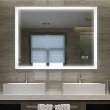 badspiegel 60 x 50 cm mit beleuchtung led rechteckig badezimmer badezimmerspiegel wandspiegel mit touchschalter kaltweissen