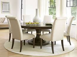 Dining Table Size Modern Glass Room Awesome Round Set