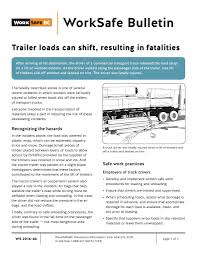 100 Truck Loads Available WorkSafe BC Highlights Dangers Of Shifting Loads Todays