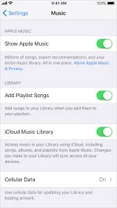 Turn on iCloud Music Library Apple Support