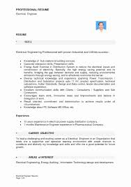 Electrician Resume Sample India Resumesectrician Free New Format Download