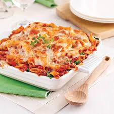 gratin de pâtes sauce italienne aux tomates séchées recettes