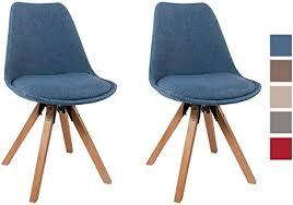 stuhl esszimmerstühle blau küchenstühle 2 er set mit holzbeinen sitzkissen esszimmerstuhl retro stoffbezug duhome 0453