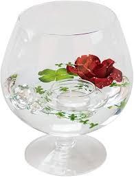 glaskönig deko glas cognacglas klein höhe 19cm ø 10cm deko
