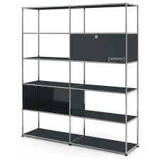 usm haller living room shelf l anthracite ral 7016 by fritz