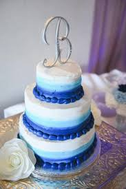 Blue Ombre 3 Tier Wedding Cake From Sams Club Bakery