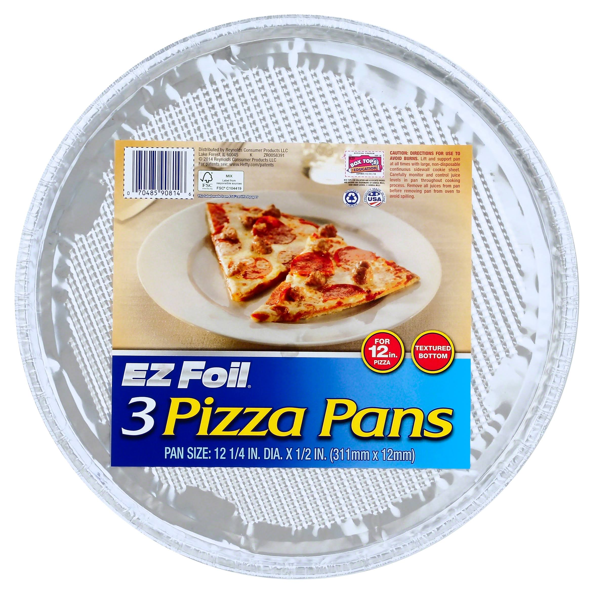 "EZ Foil 90814 Pizza Pan - 12.25"" Dia x1/2"", 3ct, 12pk"