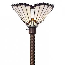 Tiffany Style Glass Torchiere Floor Lamp by 72 In Antique Bronze Peacock Stained Glass Tiffany Style