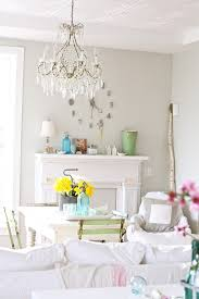 Lowes Paint Colors Dining Room Farmhouse With Bistro Chair Bottle Clock Image By Dreamy Whites