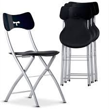 chaise de pliante chaise pliante noir tedy lestendances fr