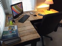 Diy Wood Computer Desk by Diy Pallet L Shaped Computer Desk Pallet Furniture Plans
