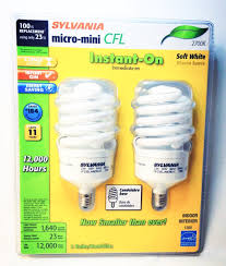 sylvania 23 watt micro mini cfl soft white candelabra base