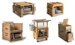 Furniture Industrial Furniture Collection From Wooden Crates