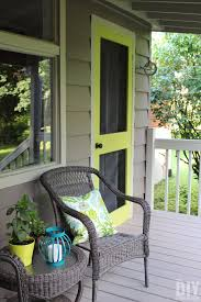 Porch Paint Colors Behr by Add A Punch Of Color To A Porch Diy Screen Door