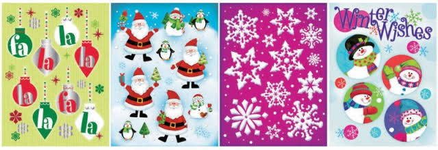 Impact Innovations Christmas Holographic Window Clings Multicolored
