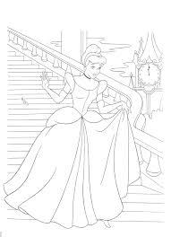 Disney Cinderella Coloring Pages Free