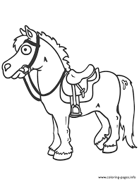 Easy Cartoon Horse S Kids455b Coloring Pages Print Download 419 Prints