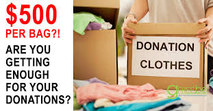get up to 500 write for one bag of used clothes