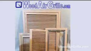 Decorative Air Return Grille by Wood Return Air Vent By Woodairgrille Com Youtube