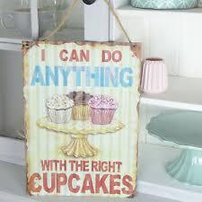 details zu schild vintage küche dekoschild wand tafel shabby retro deko cupcake backen neu