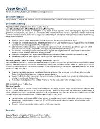 Free Education Specialist Resume Example