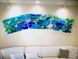 9 Long Fused Glass Wall Art Sculpture
