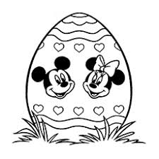 Mickey And Minnie Easter Day Coloring Sheet