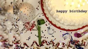 Happy Birthday Cake with Celebrate Birthday Wallpaper wallpaper