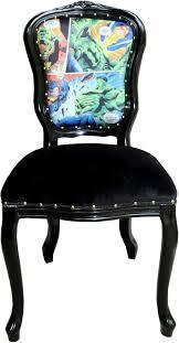 casa padrino luxus barock esszimmer set comic mehrfarbig schwarz 55 x 54 x h 103 cm 6 handgefertigte esszimmerstühle designer stühle barock
