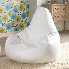 Bean Bag Bazaar Gaming Designer Recliner White Faux Leather With Regard To Incredible Household Chair Remodel